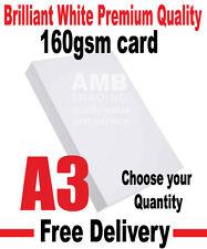 A3 (420mm x 297mm) PREMIUM WHITE 160GSM PAPER INKJET LASER: ORDER 1 - 500