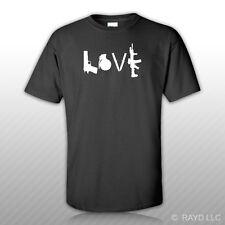 Love T-Shirt Tee Shirt model 1911 m67 knives ar15 ar-15 ar 15 2a gun rights