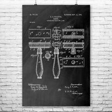 Gillette Shaving Razor Poster Art Print Safety Razor Barber Gift Stylist Gift