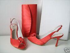MENBUR Abendschuh Mule Pumps mandarin orange Gr 39 Schuhe shoes sandals peep toe