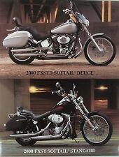 HARLEY Accessory Sheet 2000 FXSTD Softail Deuce FXST Softail Standard PHOTOS
