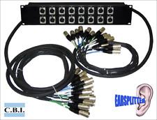 CBI 16 Ear Splitter Box Rack with 3ft/10ft Main Microphone Splitter Snake