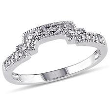 Amour 10k White Gold 1/10 Ct TDW Diamond Wedding Band Ring G-H I1-I2