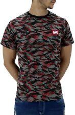 Ecko Para Hombres Verano Algodón Camuflaje camisetas rojas G Hip Hop Urbano Tiempo es Dinero