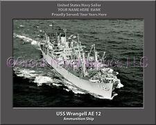 USS Wrangell AE 12 Personalized Canvas Ship Photo Print Navy Veteran Gift