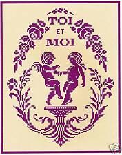 GRILLE POINT de CROIX - MÉDAILLON toi et moi - réf : 8008
