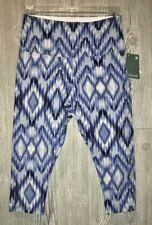 LYSSE Blue White Print Shapewear Legging Cropped Capri Pants NEW Womens Sz S M L