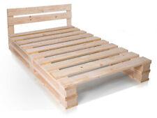 Palettenbett + Kopfteil Doppelbett Massivholzbett Bett Fichte natur PALETTI DUO