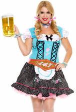 Plus size blue Oktoberfest beer maid dress costume