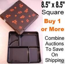 """BENTO BOX obento SUSHI serve Large 8.5"""" boxes SQUARE Japanese restaurant supply"""