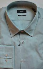 NWT Hugo Boss Black Label By Hugo Boss Stripe Cotton Sharp Fit Dress Shirt