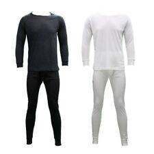 Men's Merino Wool Blend Long Sleeve Thermal Top Pants Long Johns Underwear S-2XL