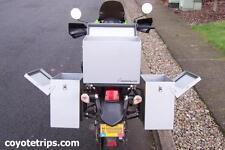 Motorcycle Aluminum Pannier, 47 liters, Hinged Lid; BMW GS, KLR, Tiger, Tenere
