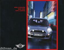 Mini Zubehör Prospekt 2001 car brochure Auto PKWs Autoprospekt Broschüre Europa