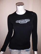 T Shirt Calvin Klein femme manche longue S M L noir CWP65M