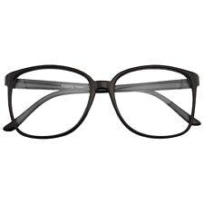 Large Oversized Geek Fashion Glasses Clear Lens Thin Frame Nerd Glasses