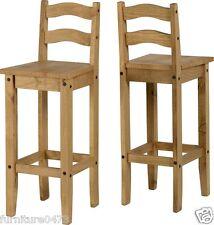 Solid Pine (Set of 2) Bar Chairs W37cm x D40cm x H107cm