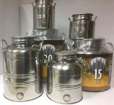 Kanne, Behälter, Fass, Edelstahlkanne aus INOX Edelstahl für Wein, Öl, Saft