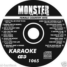 KARAOKE MONSTER HITS CD+G FEMALE COUNTRY HITS #1065