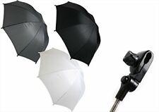 First Steps Black Baby Pushchair White Pram Umbrella Weather Protector Universal