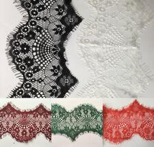 8 cm wide Eyelash Lace Trim Wedding Dress  Nylon 3 yards Handcraft Trim