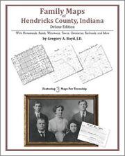 Family Maps Hendricks County Indiana Genealogy IN Plat