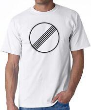 White T-Shirt AUTOBAHN circle graphic Germany Porsche kraftwerk