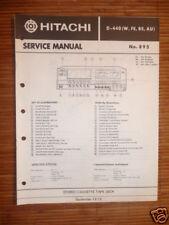 Manual de servicio para Hitachi d-440 Unidad de cinta original