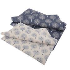 1.5 x 1m Linen Cotton Fabric Money Tree Print Cloth Curtain Tablecloth Craft DIY