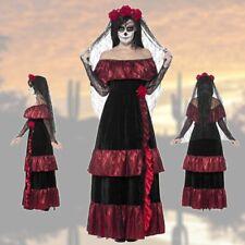 Sugar Skull disfraz la Catrina vestido de novia gótica Halloween vestido día de los muertos