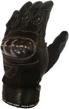 Mbsmoto GLL23 Malla De Verano Cuero Guantes de Protección Moto Bicicleta de carretera Textil