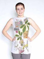 -20% Tunika Longshirt von Mamatayoe Spanien Gr. L XL natur Stoffapplikationen