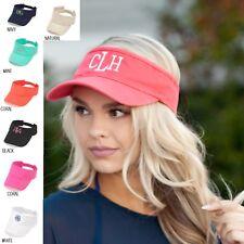 e6b3b2c707ea7c VISOR cap / hat with FREE personalized monogram - adjustable - 7 COLORS