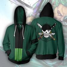 New ONE PIECE Hoodies Sweatshirt Cosplay Costume Anime Outwear Zipper Jacket
