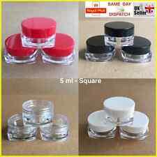 quadratisch 5ml Schrauben Top, Döschen Topf Behälter Lippenbalsam Handwerk
