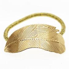 Silver Gold Black Leaf Fashion Hair Decoration Elastic Wrap Band Bobble HA310