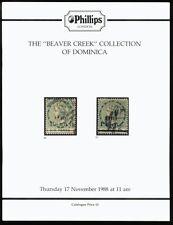 """Dominica, la """"Beaver Creek"""" Collection, 1988 Subasta Catálogo"""