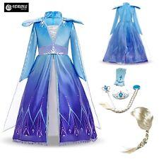 Simile Frozen Carnevale Elsa 2 Veli Vestito Cosplay Costume Dress FROZ045