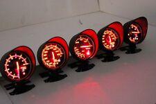 60mm rpm gauge compteur rouge & support voir boutique oil water temp vide boost