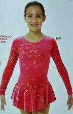 Mondor Model 2723 Girls Skating Dress - Medieval Red