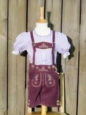 KIDSTRACHT Baby- Kinderlederhose Lederhose lila  Gr 62-158 kurz fürs Volksfest