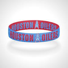 Reversible Houston Oilers Bracelet Wristband Luv Ya Blue