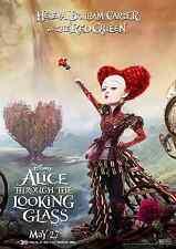 Red Queen-Alice attraverso lo specchio FILM POSTER-a3 & a4-opzione 2