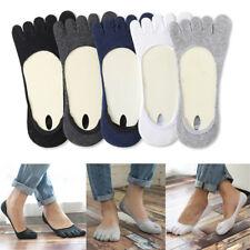 Men Invisible Toe Socks Non Slip Ultra Low Cut Five Fingers Socks High Quality