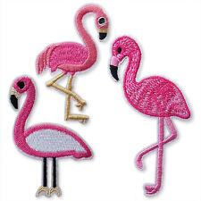 Flamingo de hierro/coser apliques Bordados Parches Motif chatarra reserva Craft