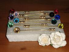 G/P Cravat/Stick/Hat Pin with Resin Cab -Wedding-Men-Ladies-Gifts-Accessories