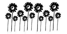 Sticker Fleur 30x60cm, Tailles et Coloris Divers (FLEUR012)