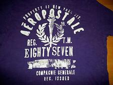 Vintage 1987 Authentic Aeropostale Raised Letters T-Shirt Purple Size Medium