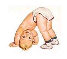 Vintage Baby Standing on Head Cross-Stitch Pattern