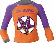 Cressi Purple Pequeno Girls Kids UV UPF+50 Sun Protective Starfish Rash Guard